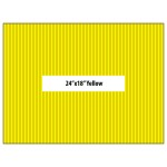 "BLANK YARD SIGNS 24"" X 18"" YELLOW - vertical flutes"