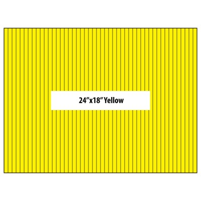 """BLANK YARD SIGNS 24"""" X 18"""" YELLOW - vertical flutes"""