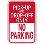 Heavy Gauge 5 Minute Parking Sign 12 x 18 inch Aluminum Signs Retail Store