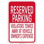 Heavy Gauge Reserved For Patients Sign 12 x 18 inch Aluminum Signs Retail Store