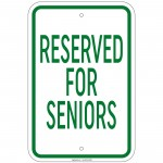 Heavy Gauge Reserved For Seniors Sign 12 x 18 inch Aluminum Signs Retail Store