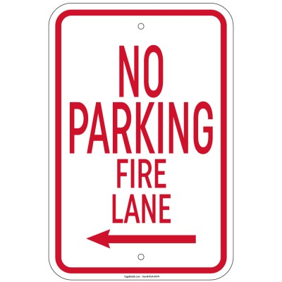Heavy Gauge 5 Minute Parking Sign 12x 18 inch Aluminum Signs Retail Store