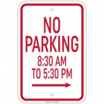 Hvy GA Active Driveway 24 Hrs 7 Days A Week w/No Park symbol Sign 12