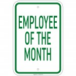 Heavy Gauge Employee Of The Month Sign 12 x 18 inch Aluminum Signs Retail Store