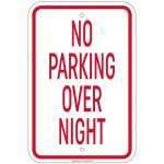Heavy Gauge No Parking Over Night Sign 12 x 18 inch Aluminum Signs Retail Store