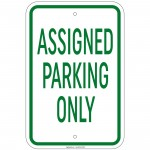 Heavy Resident Parking Only - Assigned Parking Only Sign 12