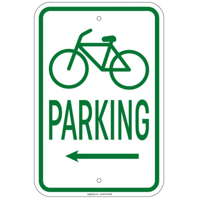 Heavy Gauge Bicycle Parking w/left arrow with Symbol 12