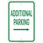 Heavy Gauge Additional Parking with Right Arrow Sign 12