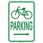 Heavy Gauge Bicycle Parking w/right arrow with Symbol 12