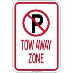 Heavy Gauge Tow Away Zone with 'P' symbol Sign 12