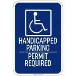 Hvy Ga Handicapped Symbol w/Handicapped Parking Sign 12