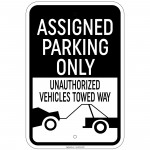 Hvy Ga. Assigned Parking Only Unauthorized Vehicles Towed 12